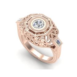 0.75 ctw VS/SI Diamond Solitaire Art Deco Ring 18K Rose Gold