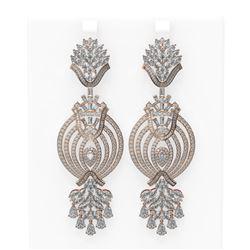 17.74 ctw Diamond Earrings 18K Rose Gold