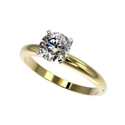 1.26 ctw Certified Quality Diamond Engagement Ring 10K Yellow Gold