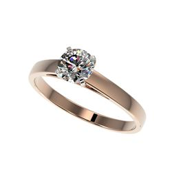 .76 ctw Certified Quality Diamond Engagement Ring 10K Rose Gold