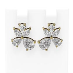 4.68 ctw Diamond Earrings 18K Yellow Gold