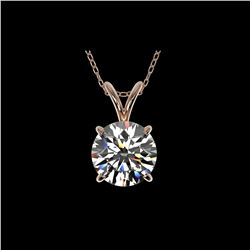 1.50 ctw Certified Quality Diamond Necklace 10K Rose Gold