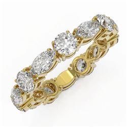 3.64 ctw Diamond Designer Eternity Ring 18K Yellow Gold