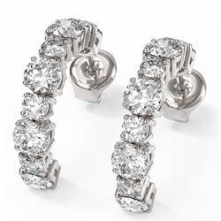 3.74 ctw Diamond Designer Earrings 18K White Gold