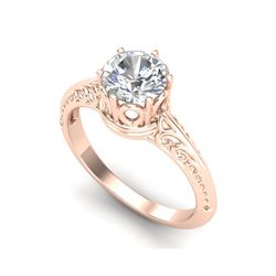 1 ctw VS/SI Diamond Art Deco Ring 18K Rose Gold