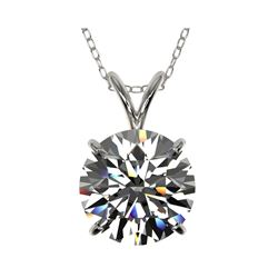 2.50 ctw Certified Quality Diamond Necklace 10K White Gold