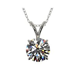 1.04 ctw Certified Quality Diamond Necklace 10K White Gold