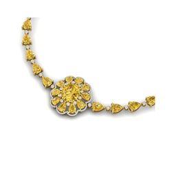 72.38 ctw Canary Citrine & VS Diamond Necklace 18K Yellow Gold