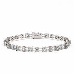 11.5 ctw Cushion and Marquise Cut Diamond Bracelet 18K White Gold