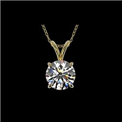 1.28 ctw Certified Quality Diamond Necklace 10K Yellow Gold