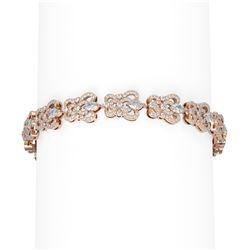 8.28 ctw Diamond Bracelet 18K Rose Gold