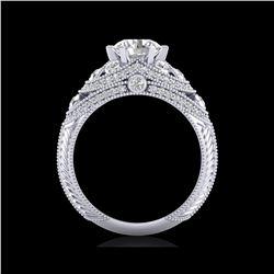 2 ctw VS/SI Diamond Solitaire Art Deco Ring 18K White Gold