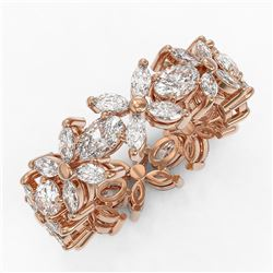 6 ctw Oval and Marquise Cut Diamond Ring 18K Rose Gold