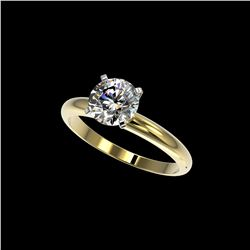 1.55 ctw Certified Quality Diamond Engagement Ring 10K Yellow Gold