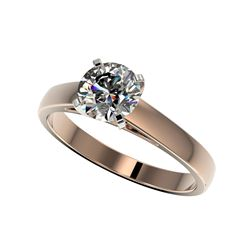 1.29 ctw Certified Quality Diamond Engagement Ring 10K Rose Gold