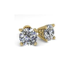 1.50 ctw VS/SI Diamond Stud Designer Earrings 18K Yellow Gold