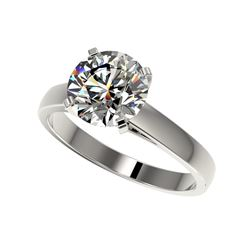 2.55 ctw Certified Quality Diamond Engagement Ring 10K White Gold