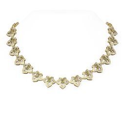 23.31 ctw Canary Citrine & Diamond Necklace 18K Yellow Gold