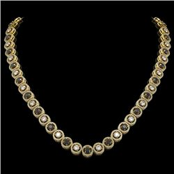 20.35 ctw Black & Diamond Micro Pave Necklace 18K Yellow Gold
