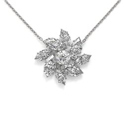 3.5 ctw Marquise Diamond Designer Necklace 18K White Gold