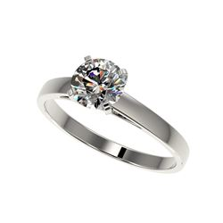 1.03 ctw Certified Quality Diamond Engagement Ring 10K White Gold