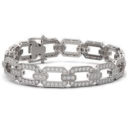 8 ctw Diamond Designer Bracelet 18K White Gold