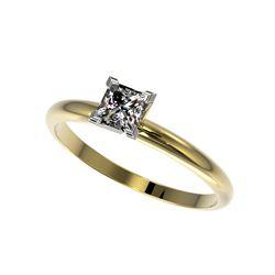.50 ctw Certified VS/SI Quality Princess Diamond Ring 10K Yellow Gold