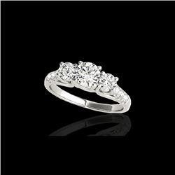 3.25 ctw Certified Diamond 3 Stone Ring 10K White Gold