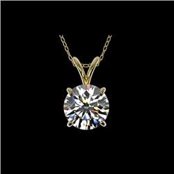 1.55 ctw Certified Quality Diamond Necklace 10K Yellow Gold