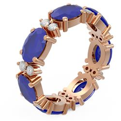 8.62 ctw Sapphire Ring 18K Rose Gold