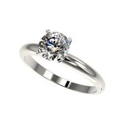 1.28 ctw Certified Quality Diamond Engagement Ring 10K White Gold