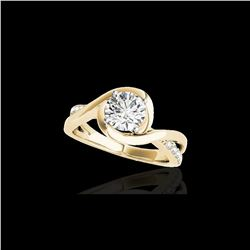 1.15 ctw Certified Diamond Solitaire Ring 10K Yellow Gold