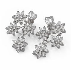 13.22 ctw Heart and Marquise Diamond Earrings 18K White Gold
