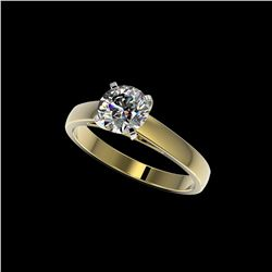 1.25 ctw Certified Quality Diamond Engagement Ring 10K Yellow Gold