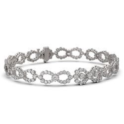 7.5 ctw Pear Cut Diamond Designer Bracelet 18K White Gold