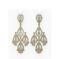 7.89 ctw Diamond Earrings 18K Yellow Gold