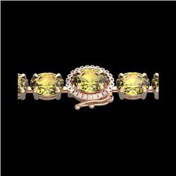 19.25 ctw Citrine & VS/SI Diamond Micro Pave Bracelet 14K Rose Gold