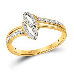 10kt Yellow Gold Round Diamond Fashion Ring 1/12 Cttw