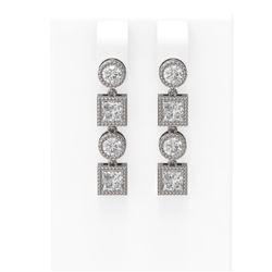 2.24 ctw Diamond Earrings 18K White Gold