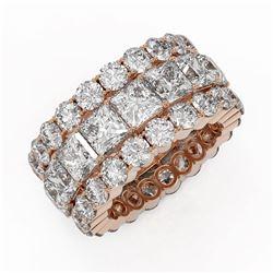 13.62 ctw Princess Cut Diamond Eternity Ring 18K Rose Gold