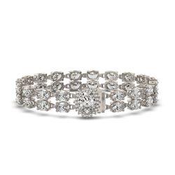 13.54 ctw Oval Diamond Bracelet 18K White Gold