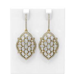 9.23 ctw Oval Diamond Earrings 18K Yellow Gold