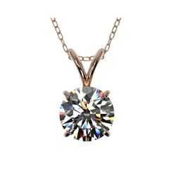 1.04 ctw Certified Quality Diamond Necklace 10K Rose Gold