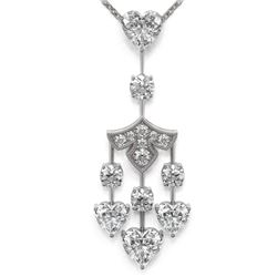 3.75 ctw Heart Diamond Designer Necklace 18K White Gold