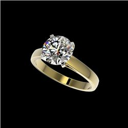 2.55 ctw Certified Quality Diamond Engagement Ring 10K Yellow Gold