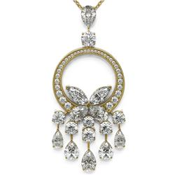 6.61 ctw Pear and Marquise Cut Diamond Necklace 18K Yellow Gold