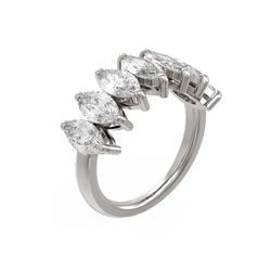 3.64 ctw Marquise Diamond Ring 18K White Gold