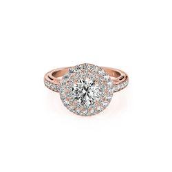 2.25 ctw Certified VS/SI Diamond Halo Ring 18K Rose Gold