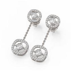 2 ctw Diamond Designer Earrings 18K White Gold