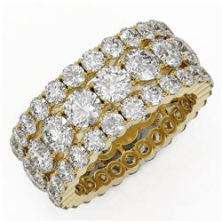 8.2 ctw Diamond Designer Eternity Ring 18K Yellow Gold